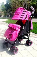 Детская коляска трость SPORT M 3431-1 розовая