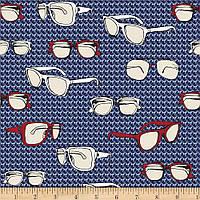 """Ткань для пэчворка и рукоделия американский хлопок """"Очки"""" - 22*55 см"""