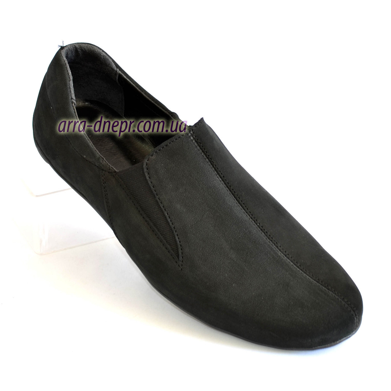 Туфли-мокасины мужские, цвет черный.
