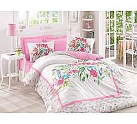 Хлопковый комплект постельного белья ЕВРО размера Cotton Box MEHSIMA PEMBE CB03