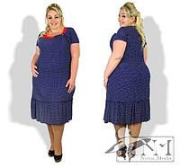 Платье женское летнее в горошек, с 50-60 размеры