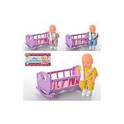 Кроватка 729 V качалка, с куклой и бутылочкой