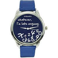 Наручные часы Я не опаздываю синие  AW 021