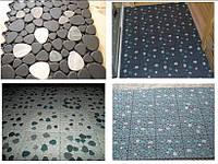 """Антискользящий ковёр для влажных помещений: саун, бассейнов- """"Природный камень-галька"""""""