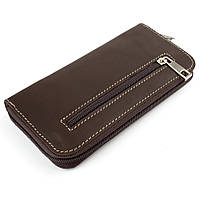 Женский кожаный кошелек на молнии LIKA (коричневый)
