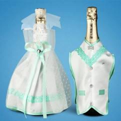 Украшение для свадебного шампанского  2706-11