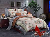 Двуспальный комплект постельного белья сатин S073  ТМ TAG