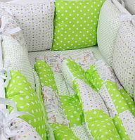 Защита в кроватку,бортики, детское постельное белье