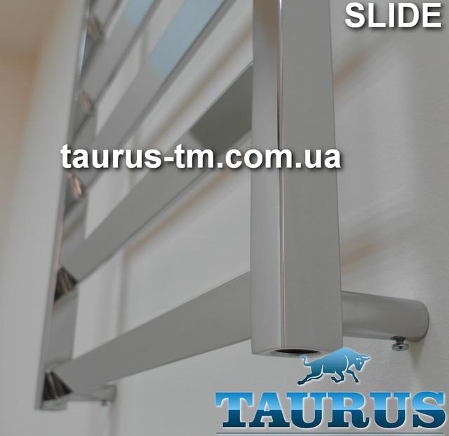 Фотография новинки полотенцесушителя Slide из нержавеющей стали от TAURUS