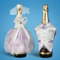 Украшение для свадебного шампанского 2706-15