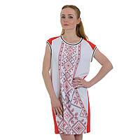 Женское красное шифоновое платье сарафан этно стиль