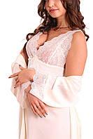 Комплект ночная рубашка кружевная-халат, №1 для свадебной фотосессии К05н