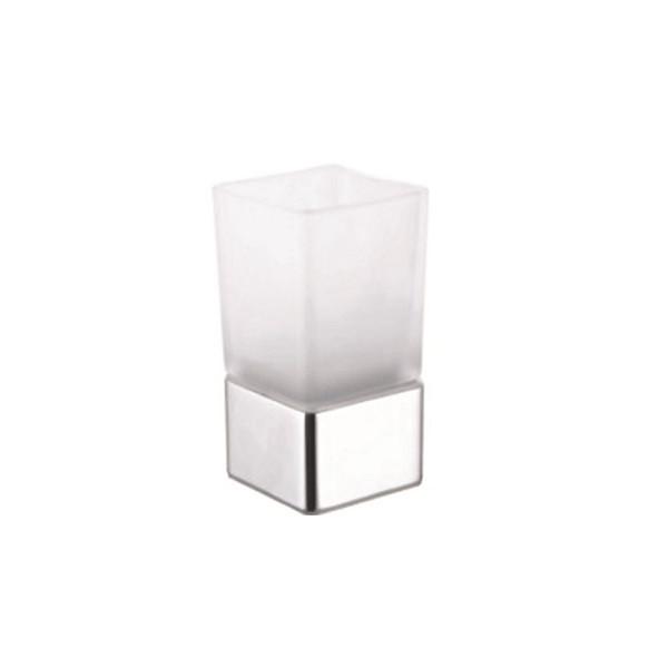 Стакан для зубных щеток, стекло, CUBE, KL-130B