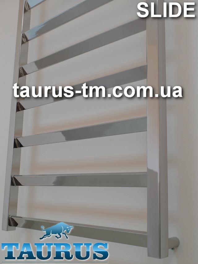 Фотография современного полотенцесушителя Slide из нержавеющей стали от TAURUS