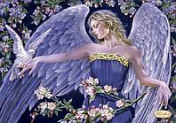 Схема для вышивания бисером Ангел и голубь