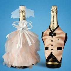 Украшение для свадебного шампанского 2706-18