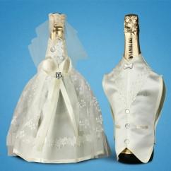 Украшение (одежда)  для свадебного шампанского 2706-19