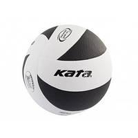 Мяч волейбольный клееный Kata200 PU Black/White