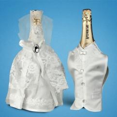 Украшение (одежда)  для свадебного шампанского  2706-20