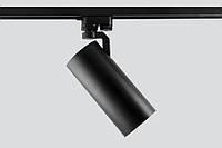 Светодиодный трековый светильник 30 Вт нейтральный белый 4200 К антиблик черный корпус, фото 1