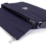 Сумка чоловіча текстильна А4 Philipp Plein 0881-6 синя через плече ділова офісна папка, фото 4