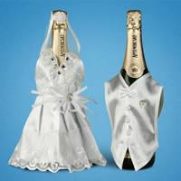 Украшение (одежда)  для свадебного шампанского  2706-21
