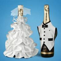 Украшение (одежда)  для свадебного шампанского  2706-23