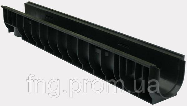 Лоток водоотводный ЛВ-10.14,5.10- пластиковый усиленный
