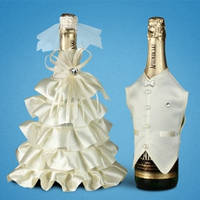 Украшение (одежда)  для свадебного шампанского  2706-25