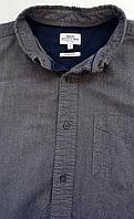 Mужская рубашка серая в стиле кэжуал  Размер М
