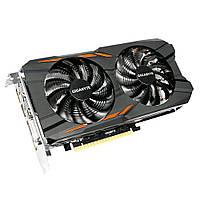 Видеокарта GeForce GTX1050Ti OC, Gigabyte, 4Gb DDR5, 128-bit, DVI/HDMI/DP, 1468/7008 MHz (GV-N105TWF2OC-4GD)