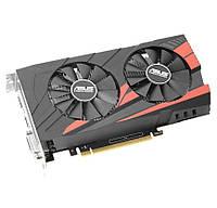 Видеокарта GeForce GTX1050Ti OC, Asus, 4Gb DDR5, 128-bit, DVI/HDMI/DP, 1455/7008 MHz (EX-GTX1050TI-O4G)
