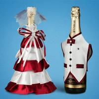 Украшение (одежда)  для свадебного шампанского  2706-26