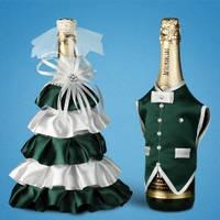Украшение (одежда)  для свадебного шампанского  2706-29