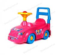 Автомобиль для прогулок (толокар) розовый