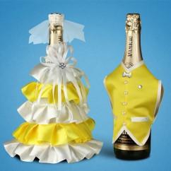 Украшение (одежда) для свадебного шампанского 2706-27