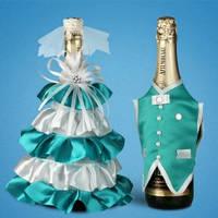 Украшение (одежда)  для свадебного шампанского  2706-30