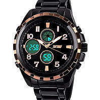 Кварцевые спортивные часы Skmei (black-bronze)