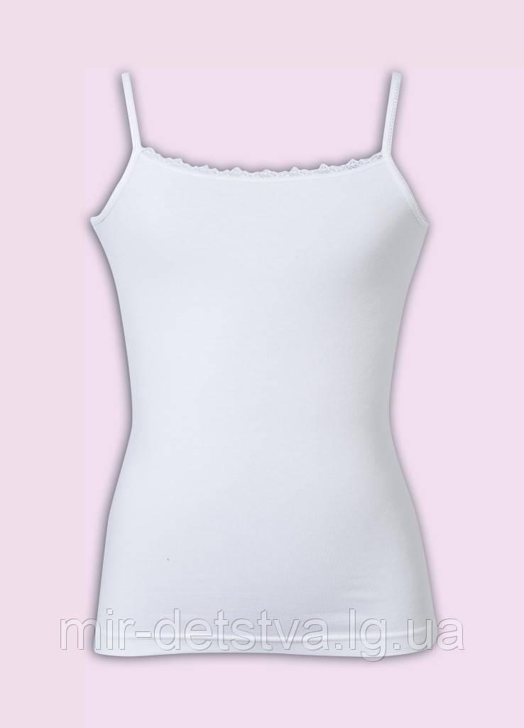 Майки белые детские для девочек ТМ Donella оптом р.0/1 год  (86-92см) ост. 2 шт