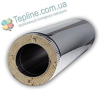 Труба димохідна сендвіч d 150 мм; 1 мм; AISI 304; 50 см; нержавіюча сталь/оцинкування - «Версія-Люкс», фото 2