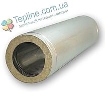 Труба димохідна сендвіч d 150 мм; 1 мм; AISI 304; 50 см; нержавіюча сталь/оцинкування - «Версія-Люкс», фото 3
