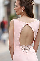 Розовое платье в пол,рыбка с открытой спиной
