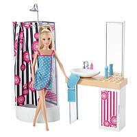 """Набор Кукла Барби """"Роскошная ванная комната""""  / Barbie Doll and Bathroom Furniture Set"""