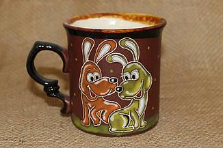 Чашка керамическая «Веселые собачки»