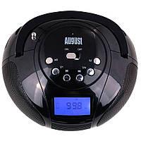 Бумбокс с встроенным аккумулятором August SE20 MP3 колонка с радио и Bluetooth
