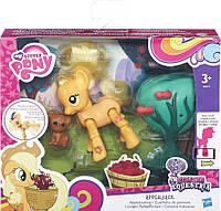 Игровой набор My Little Pony Equestria Эпл Джек APPLE JACK с артикуляцией (B5674-B3602), фото 1