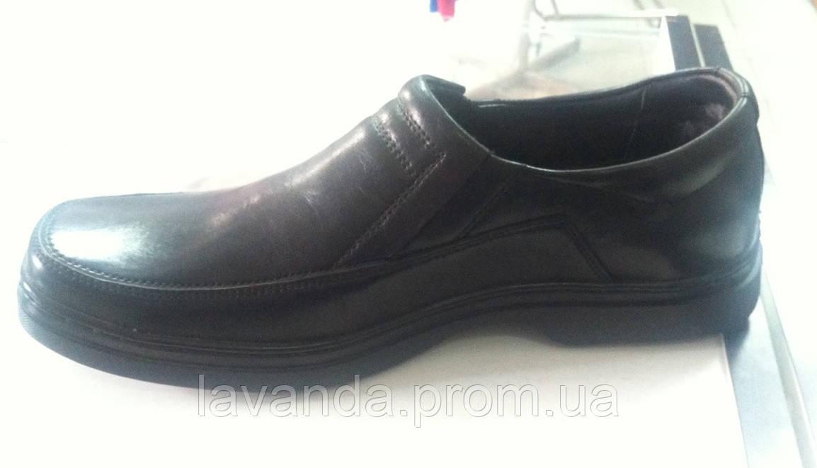Мужские кожаные туфли Mida Мида арт 11690