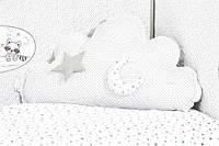 Подушка декоративная Облако горох/звезда