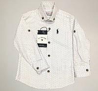 Детская рубашка для мальчика, нарядная, белого цвета