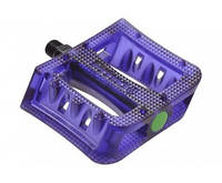 Педалі 9/16 plastic composite platform Cr-Mo вісь прозоро-сині (19-208) PRIMO